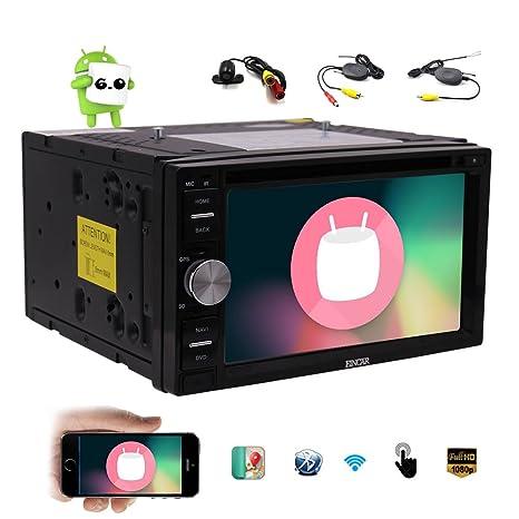 EinCar Android 6.0 GPS coches reproductor de DVD Doble Din 6.2 pantalla táctil capacitiva