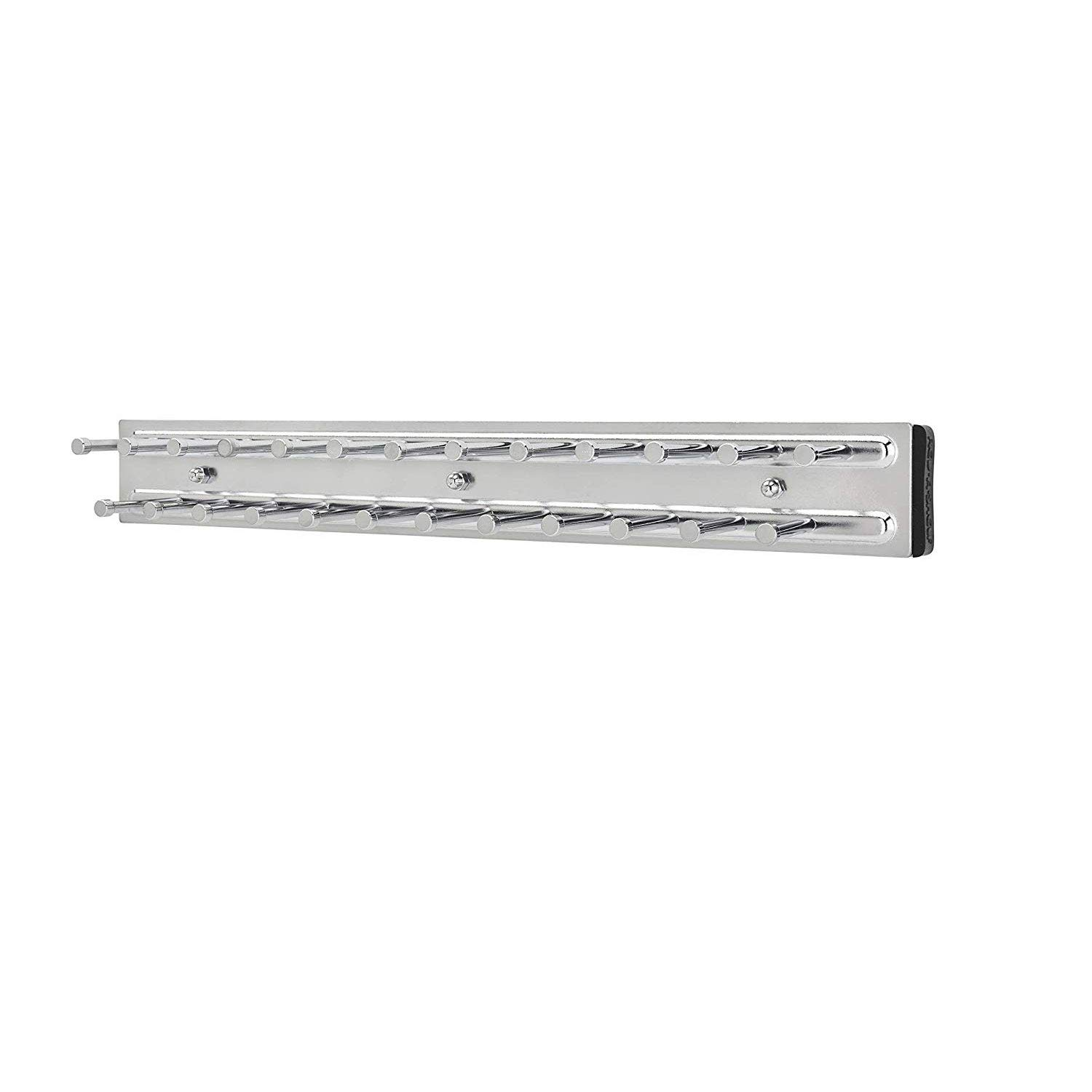 Rev-A-Shelf TRC-14CR 14 Inch Side Mount Extending Tie Organization Rack, Chrome by Rev-A-Shelf
