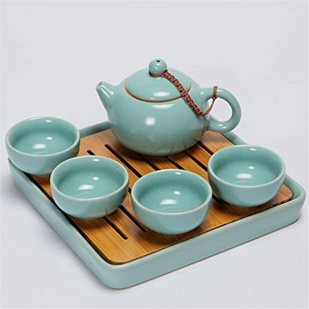 DONG Juego de té de Kungfu de Viaje portátil Conjunto de Horno ...