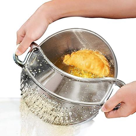 MM456 Grasa de carne molida, colador de verduras, cuencos a presión, ollas y