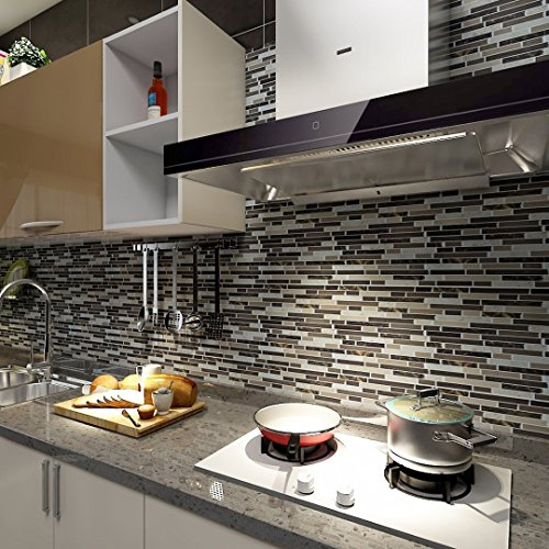 Art3d Self Adhesive Wall Tile Peel and Stick Backsplash for Kitchen (10 Tiles) by Art3d (Image #1)