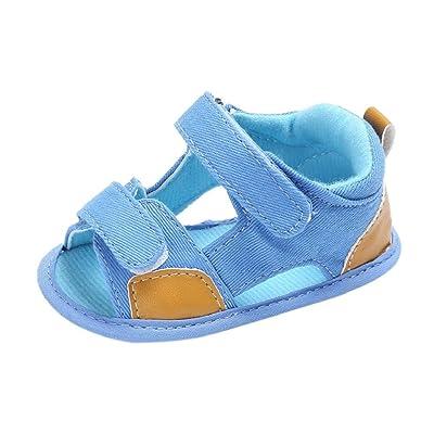 Baby Boys Sandals,VIASA Fashion Toddler boys Canvas Sole Crib Velcro Sandals