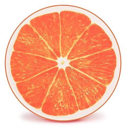 Uiophjkl Seguro y cómodo D cojín de Modelado extraíble y Lavable Fruta Mascota Estera Naranja Pitaya