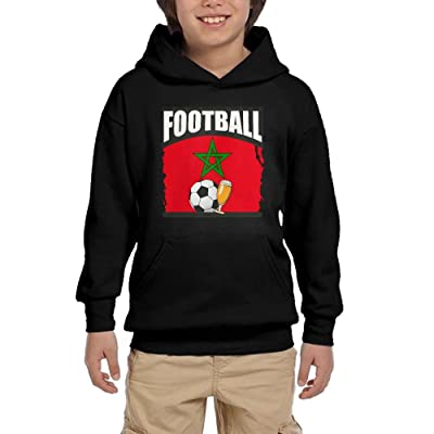 Football Beer Soccer Morocco Boy Athletic With Pocket Hooded Long Sleeve Pullover Sweatshirts