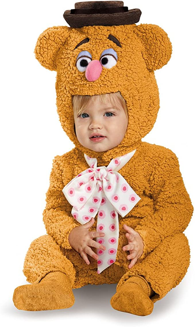TODDLER FUZZY BEAR BABY ANIMAL OUTFIT BROWN