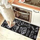 USTIDE Kitchen Mat, Anti Fatigue Rubber Kitchen Doormat Nonslip Waterproof Standing Mat 17.7'' x 29.5'' Banquet