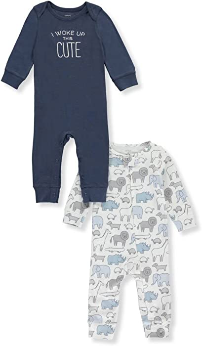 88cddd09ebd6 Amazon.com  Carters Baby Boys 2Pack Coveralls 3 Months