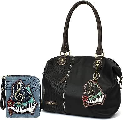 Chala Handbags LaserCut Totes Shoulder Purse with Matching Wallet Gift Set