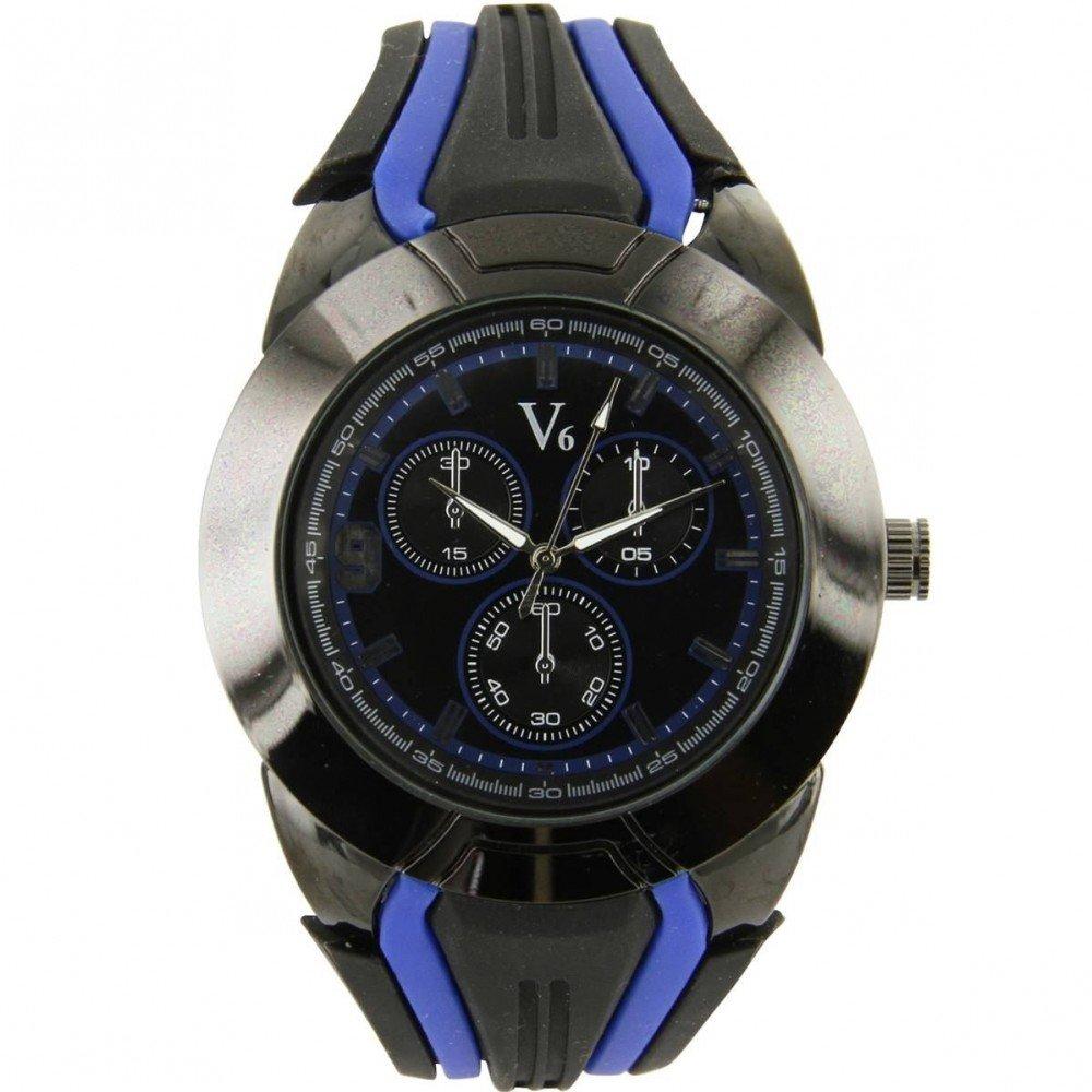 5900f6f6a634 V6 Montre Homme - Montre Homme Silicone Noir Pas Cher V6 1210  Amazon.es   Relojes