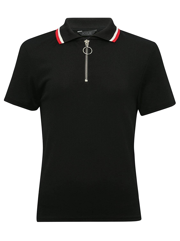M/&Co Teen Girl Zip Front Polo Shirt