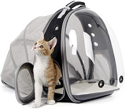 halinfer Back Expandable Cat Backpack - Fantastic Backpack Capsule for Small Pets