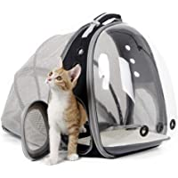 Cat Carrier Backpack, Expandable Pet Backpack for Small Dog, Space Capsule Bubble Transparent Clear Kitten Carrying…