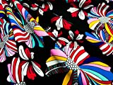 (US) Nylon Lycra print fabric four way strech Spandex by yard for swimwear dancewear sportwear