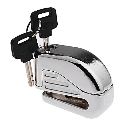 Anti ladrón seguridad alarma Electron Bloqueo de freno de disco 6 mm Pin para motocicleta moto
