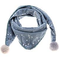 Bufanda de algodón para niños, cómoda bufanda de cuello de triángulo para niños cómoda a prueba de viento transpirable…