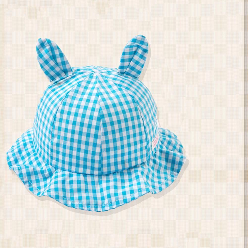 Aisoway Bambini Unisex Cotone Bacino cap Lattice Orecchie del Modello del Coniglio Cappello per Il Sole con La Fascia Elastica per Ragazzi Ragazze