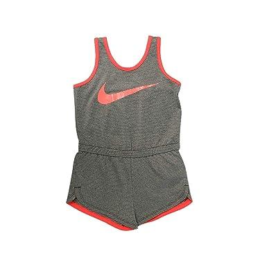 7384cc7415f0a9 Nike Little Girls  Dri-Fit Sport Essentials Romper (Dark Grey(36C976-