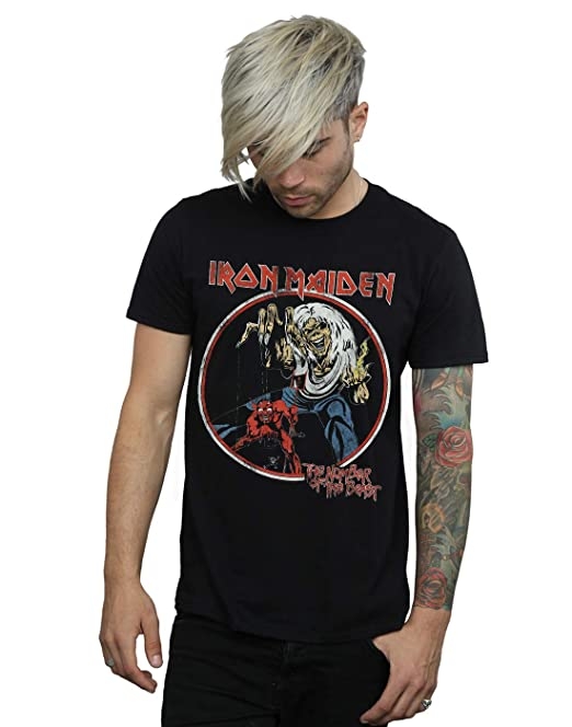 Absolute Cult Iron Maiden Hombre Number of The Beast Camiseta: Amazon.es: Ropa y accesorios