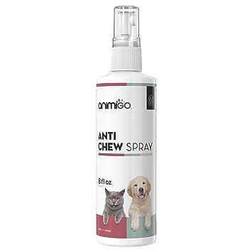 Animigo Spray Antimordeduras para Gatos y Perros | Spray Desalentador Líquido de Mordeduras para Entrenar Mascotas | No Tóxico y Anti-Manchas | ...