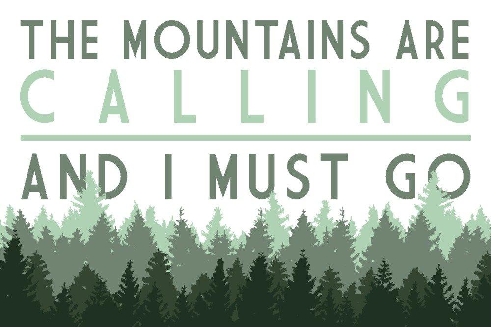今季一番 The Mountains Print Are Art Calling and Pine I must go – Pine Trees Canvas Tote Bag LANT-83606-TT B07B2DMSGN 16 x 24 Signed Art Print 16 x 24 Signed Art Print, 鮮一:80ce916d --- 4x4.lt