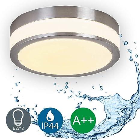 LED Deckenleuchte Bad-Lampe Aussen-Leuchte 2x E27 230V IP44 LED Wandleuchte  LED Leuchte Aussenbeleuchtung Wohnzimmerlampe für Badezimmer Küche Flur ...