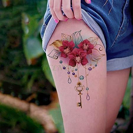 tzxdbh 3 Piezas Impermeables Tatuajes temporales del Tatuaje Rose ...