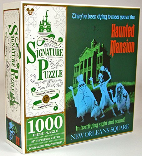 Disney Parks Exclusive Haunted Mansion 45th Anniversary Hitchhiking Ghosts Attraction Poster 1000 Pc. Puzzle by Haunted Mansion