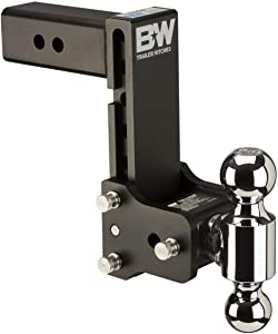 "B&W Tow & Stow - Fits 2.5"" Receiver, Dual Ball (2"" x 2-5/16""), 7"" Drop, 10,000 GTW"