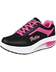 Cinnamou Mujer Gimnasia Ligero Sneakers Transpirables Zapatillas Tacón de Deportivos de Running Cuñas Mujer Verano 2018