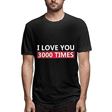 47334b9939 Amazon.com: Nuewofally Men's Fashon T Shirt I Love You 3000 Times Shirt  Avengers Endgame Iron Man Shirt Top: Clothing
