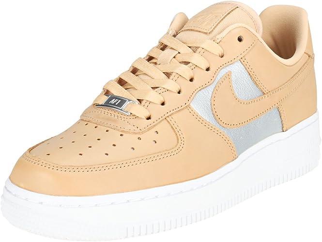 Scarpe Donna Sneaker Air Force 1 07 in Pelle Beige AH6827 200