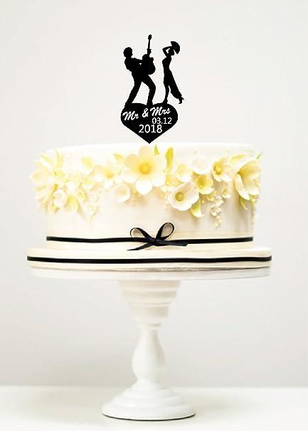 Amazon KISKISTONITE Cake Toppers Bank Musician Wedding Mr Mrs