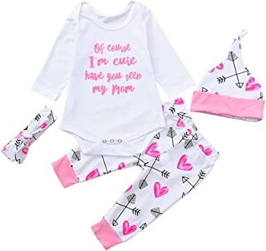 Pants 90cm Newborn Infant Baby Girl Clothes Bunny T-shirt Hat Outfit Pretty
