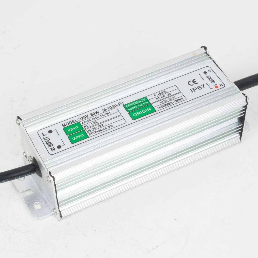 uxcell 80W LED Driver Waterproof IP67 Power