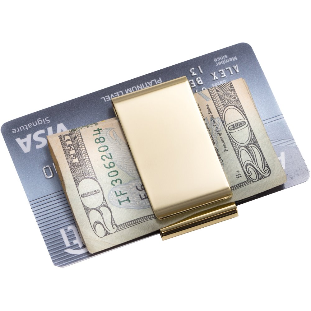 Amazon.com: Money Clip chapado en oro bb198g: Home & Kitchen