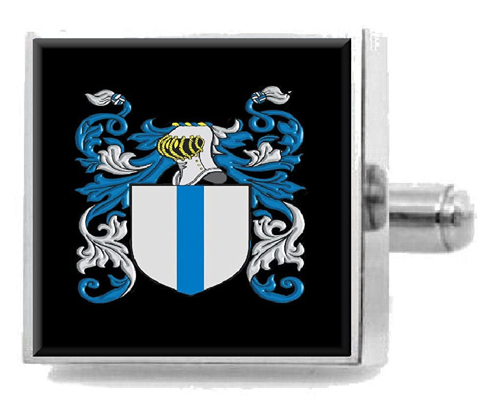 Select Gifts Bye England Family Crest Surname Coat Of Arms Cufflinks Personalised Case