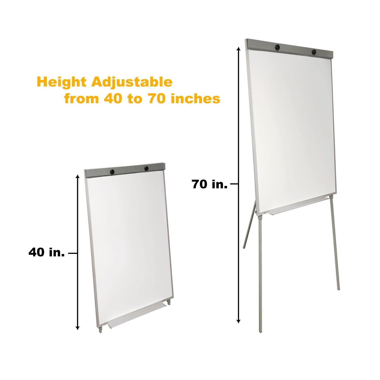 Thornton's Office Supplies Aluminum Frame Magnetic Restaurant Sign Portable Office/School Tripod Dry Erase Flipchart Easel Board, 39 x 27