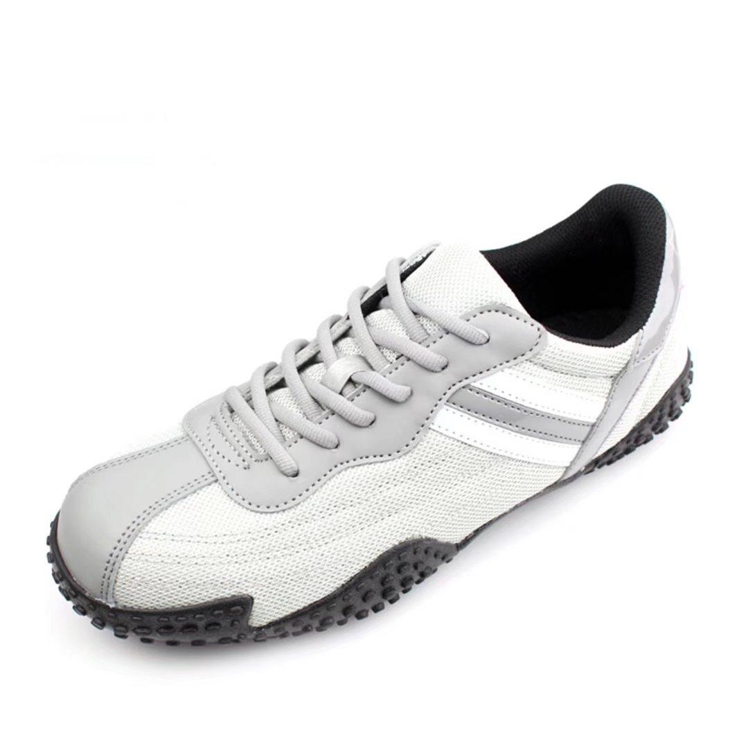 DDTX Men's Work Shoes Steel Toe Steel Midsole Athletic Safety Sneakers Grey (6.5)