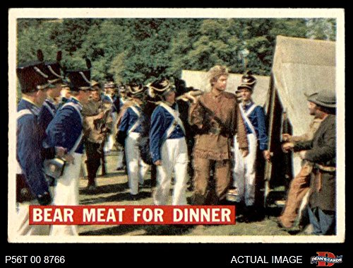 1956 Topps Davy Crockett Orange Back # 5 Bear Meat For Dinner (Card) Dean's Cards 5 - EX 3093611