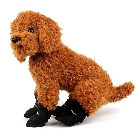 Famhome Botas Zapatos Antideslizante Antideslizante elástico protección -Uso Todo Terreno Recubierto de Goma Perro del Animal doméstico # 4 (2,30