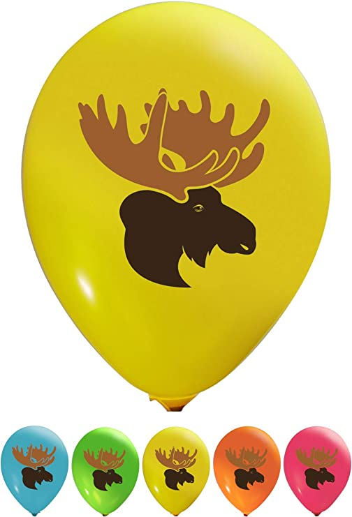 "Christmas Reindeer Mix 12/"" Printed Latex Balloons Assorted Pack of 12"