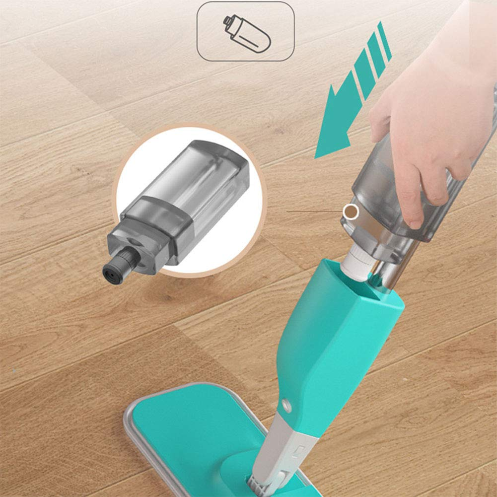 ZLIJUN Hand-Free Wash Spray Water Spray Flat Mop Tile Solid Wood Special Mop Wet and Dry Land Tow