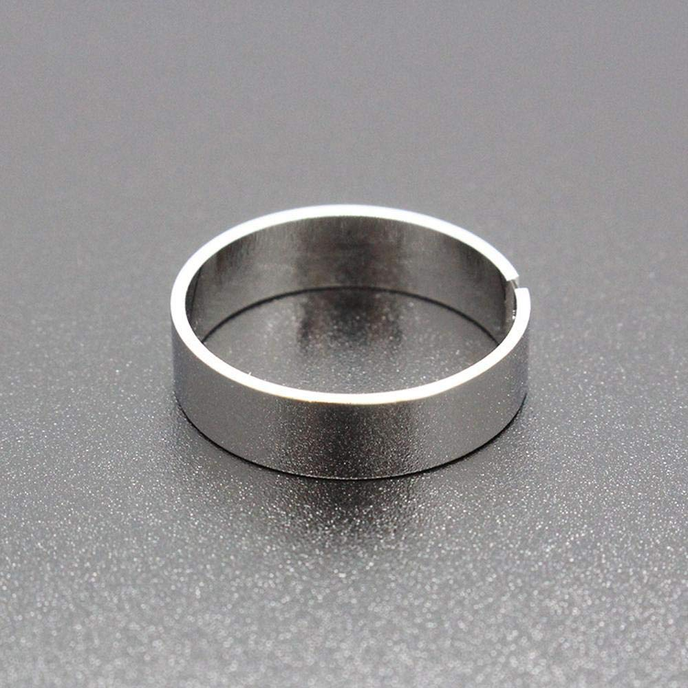 Dixinla Rings Djustable, Metal Fashion Simple Smooth Men Women Ring to Send Friends Birthday Graduation Gifts