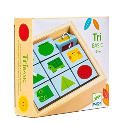 DJECO TriBasic Wooden Puzzle: Toys & Games
