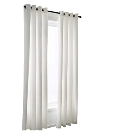 Rajlinen 2 Panel Beautiful Curtain Off White 100 Percent Cotton Very Thick Material Window Elegance Curtains