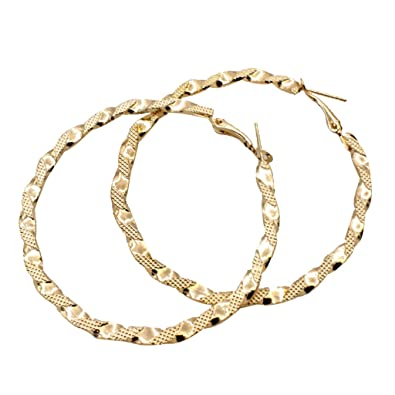 Earrings Jewelry & Accessories 4 Styles Big Hoop Earring Bamboo Hoop-earring 1 Pair Women Hoop Earrings Basketball Wives Earrings Large Gold Color