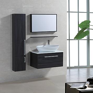 Badmöbel Für Aufsatzwaschbecken 4 tlg badmöbel set badezimmermöbel komplettset 80 cm