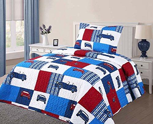 Golden Linens Twin Size 2 Pieces Quilt Bedspread Set Kids Ne