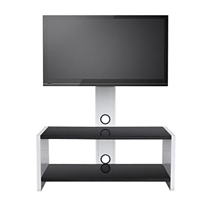 Amazon SevenFanS Universal Swivel Glass TV stand with mount TV
