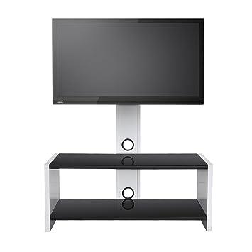 Sevenfans Universal Swivel Glass Tv Stand Mount Tv Stand Swivel
